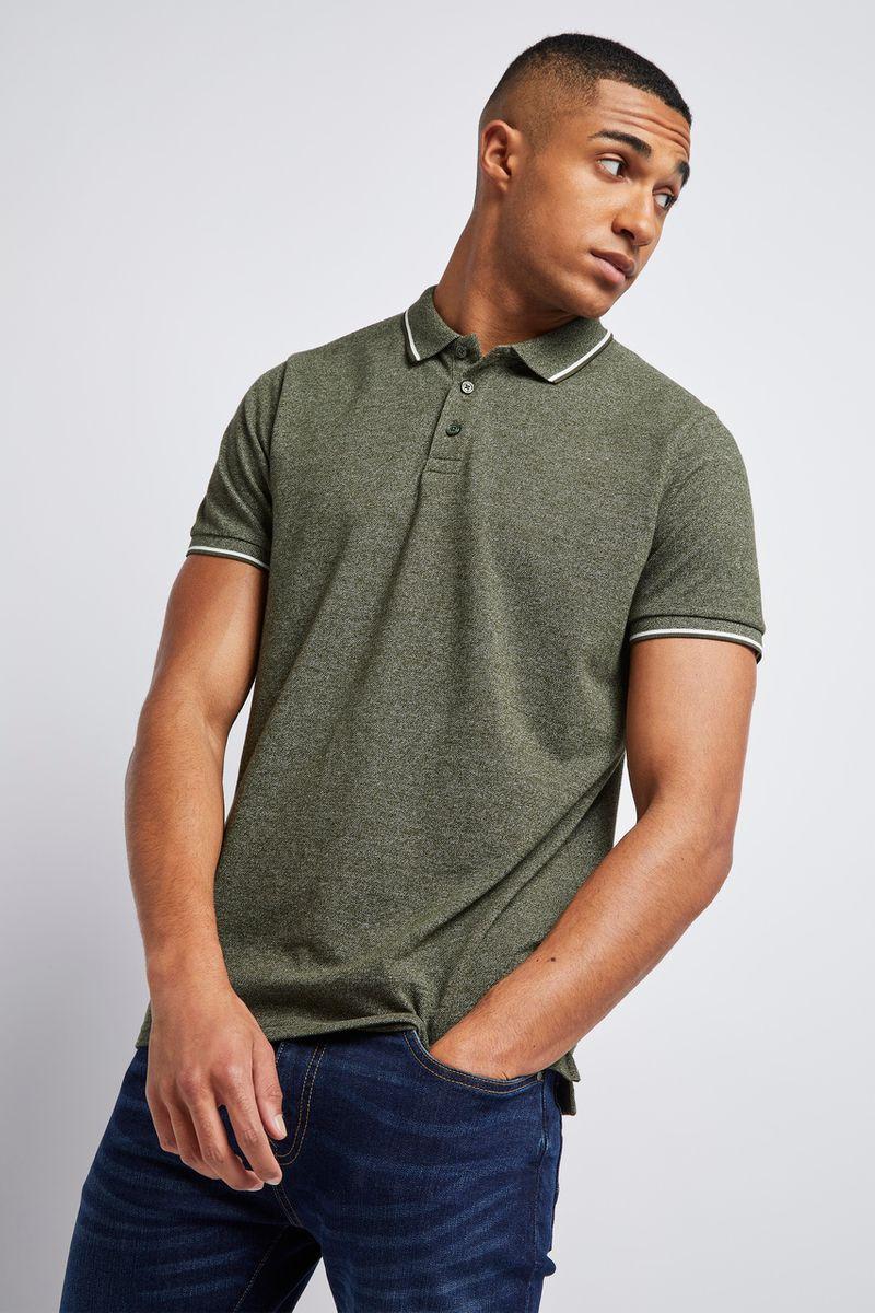 Khaki White Tipping Polo shirt