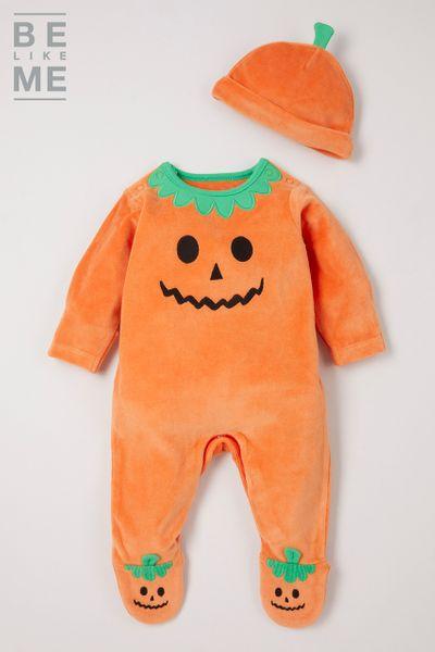 Pumpkin Sleepsuit Set