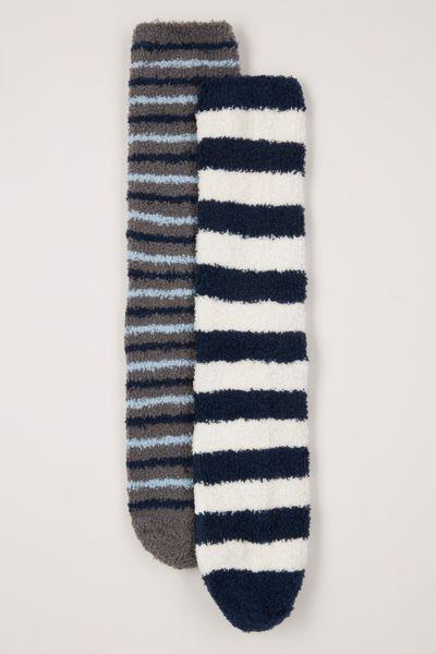 Navy Stripe Cosy Socks