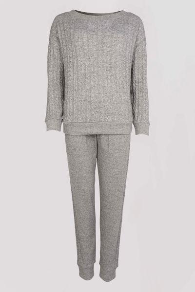 Grey Cable Loungewear Set