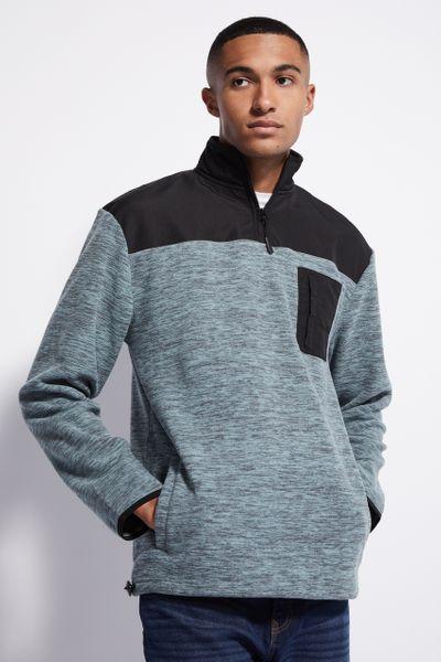 Teal Space Dye Fleece