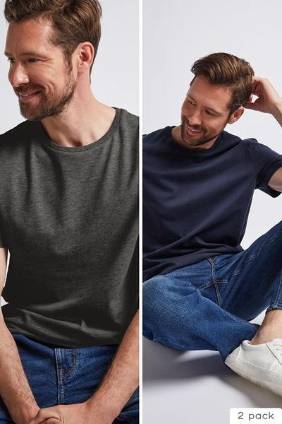 2 Pack Navy & Charcoal T-shirts