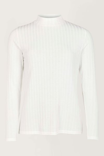 Ivory Jersey Turtle Neck Top