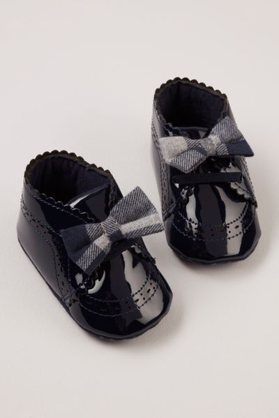 Patent Bow Detail Booties