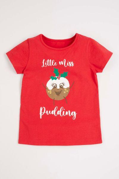 Christmas Pudding T-shirt 1-14 yrs