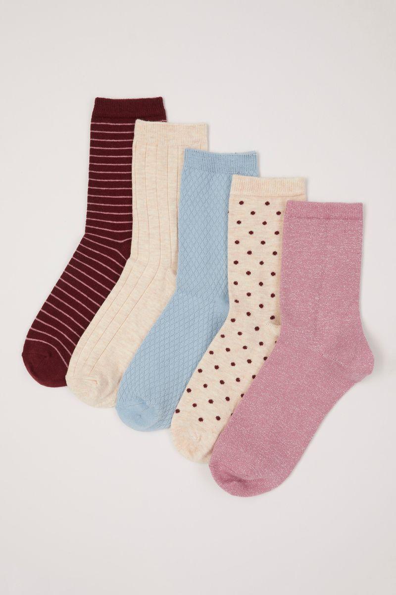 5 Pack Pastel Socks