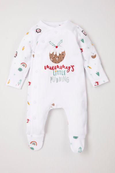 Christmas Pudding sleepsuit