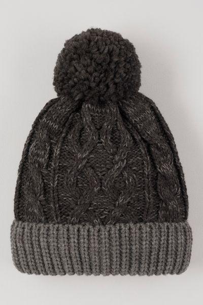 Black Knitted Beanie Hat