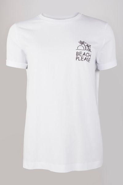White Beach Graffic T-shirt