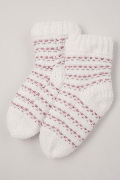 Pink Stripe Lounge Socks
