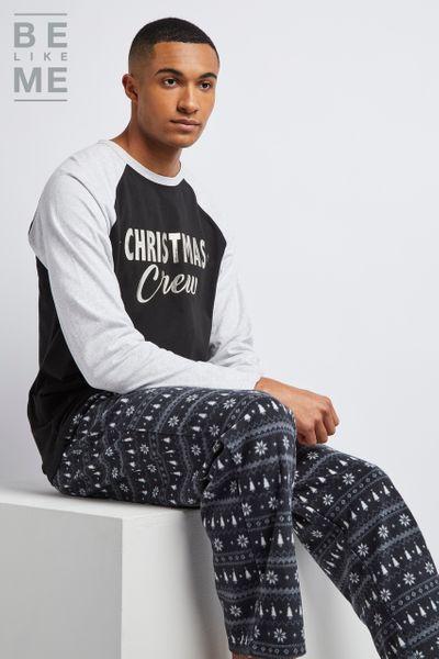 Family Of Mens Christmas Crew Pyjamas