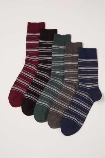 5 Pack Stripe Everyday Fresh socks