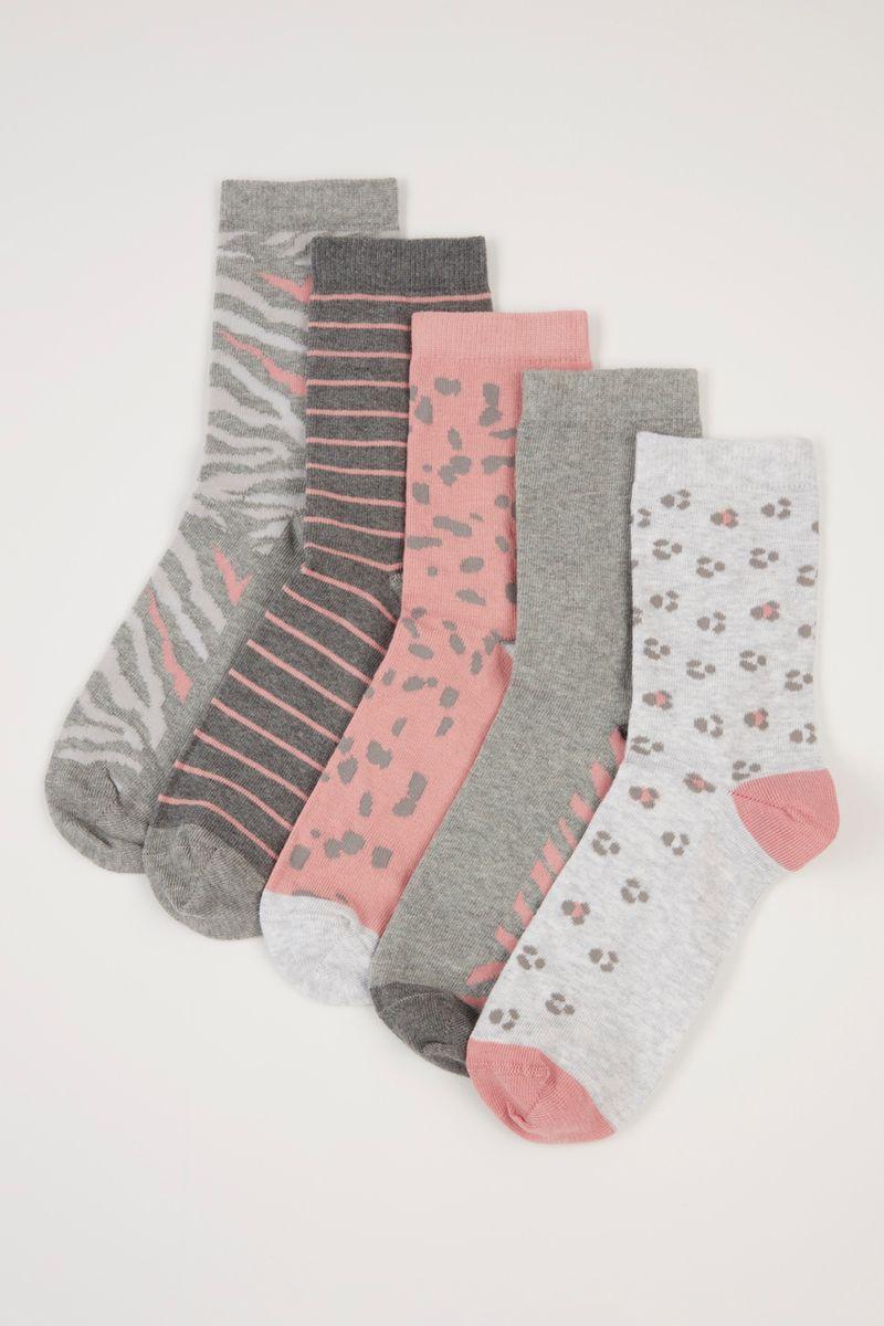 5 Pack Animal Print socks