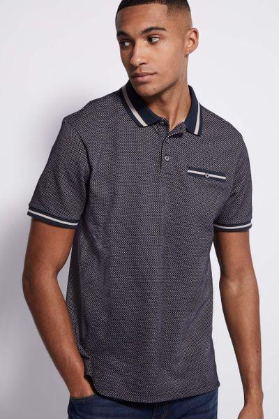 Navy & Mushroom Polo shirt