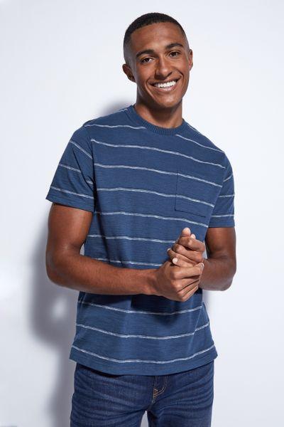 Petrol Blue Stripe T-Shirt