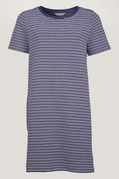 Textured Stripe Longline T-shirt