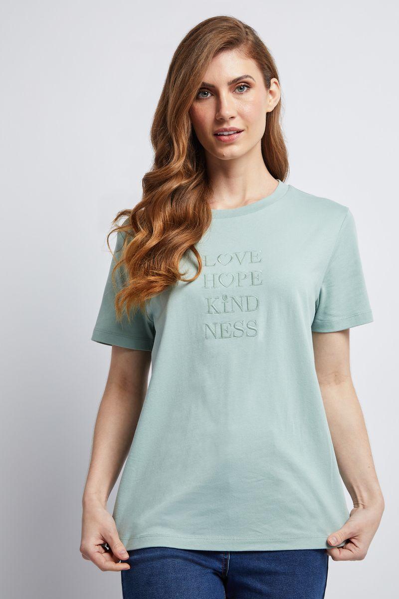 Sage Love & Hope Slogan T-shirt