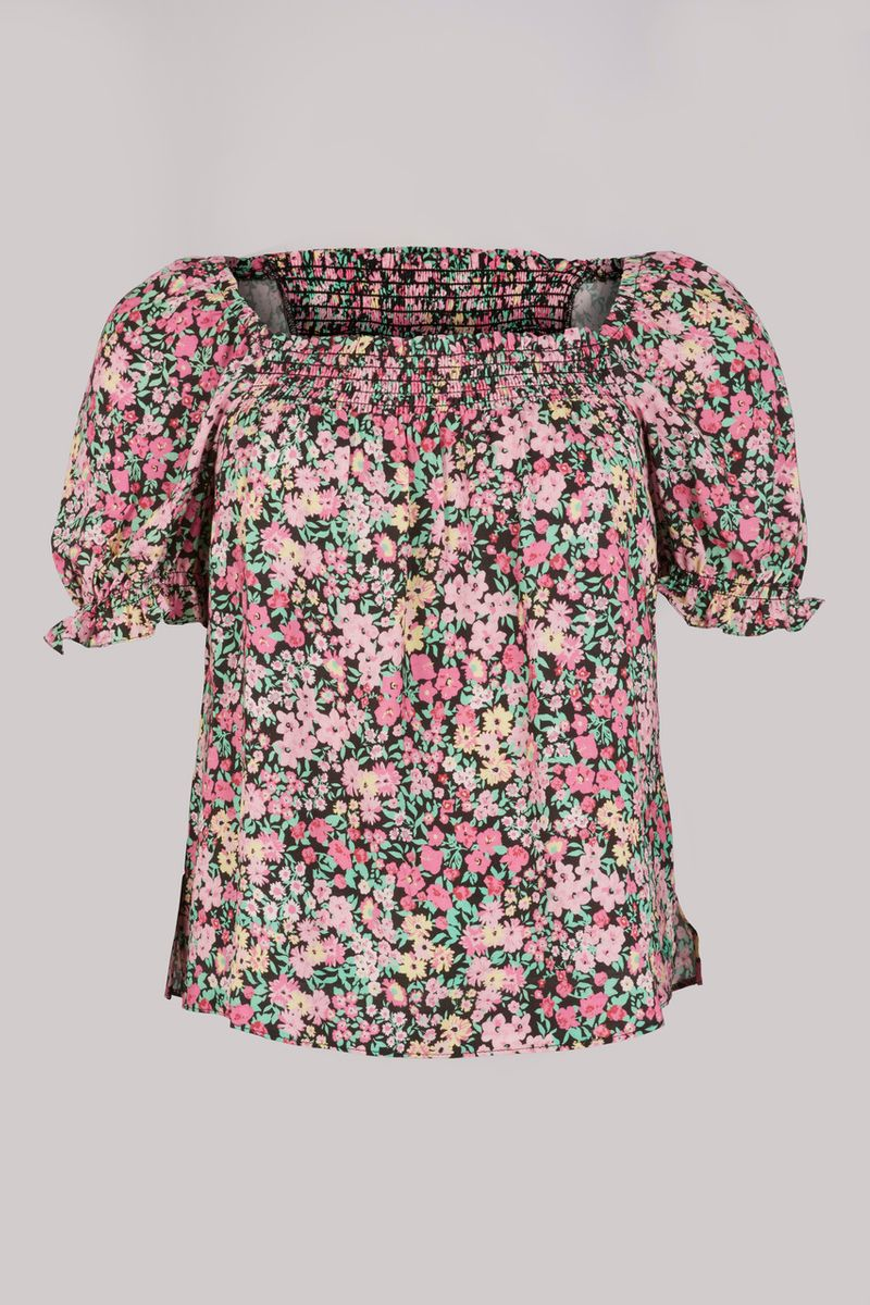 Floral Print Co-ord Blouse Top