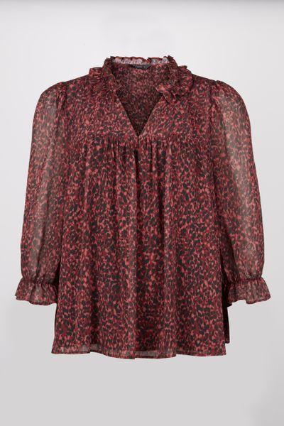 Red Animal blouse
