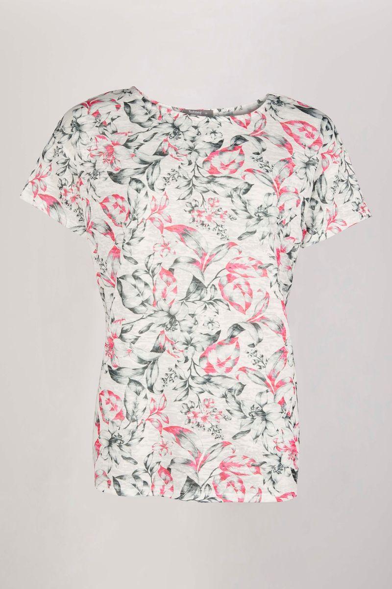 Monochrome Floral Lightweight T-shirt